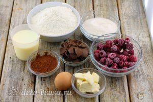 Шоколадный кекс с малиной: Ингредиенты