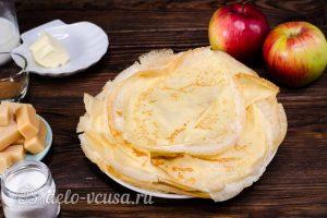 Блинный торт с яблоками: Выпекаем блинчики