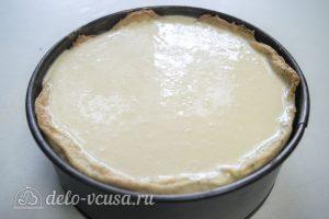 Ореховый чизкейк: Залить начинку