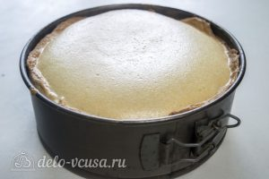 Ореховый чизкейк: Выпекать до готовности