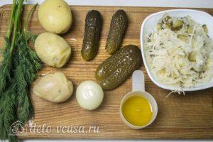 Картофельный салат по-немецки: Ингредиенты