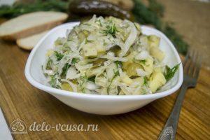 Картофельный салат по-немецки готов