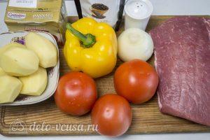 Котлеты тушеные с овощами: Ингредиенты