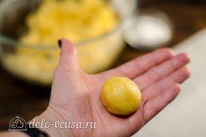 Лимонное печенье: Сформировать шарик из теста