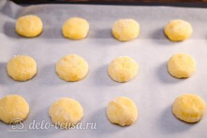 Лимонное печенье: Кладем на противень
