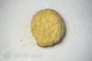 Ореховое песочное тесто: Перемешать тесто