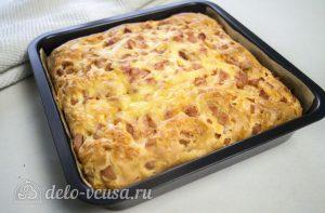 Пирог с ветчиной и сыром: Печь до готовности