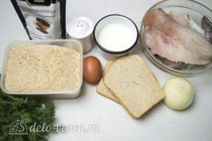 Рыбные котлеты из хека: Ингредиенты