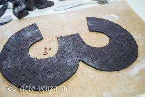 Торт Цифра из медовых коржей: вырезать из теста коржи нужной формы