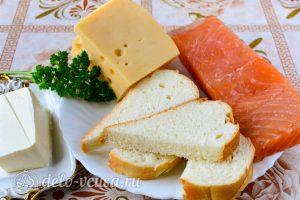 Бутерброды с семгой и сыром: Ингредиенты