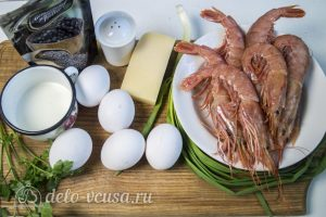 Фриттата с креветками: Ингредиенты