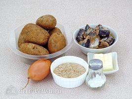 Картофельная запеканка с рыбными консервами: Ингредиенты