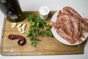Креветки жареные в масле с чесноком: Ингредиенты