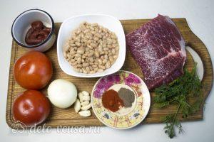 Мясо с фасолью в томатном соусе: Ингредиенты