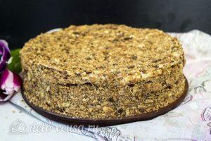 Торт Наполеон домашний с вареньем: Оставить торт пропитываться в холоде
