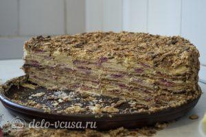 Торт Наполеон домашний с вареньем готов