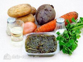 Салат из свеклы и морской капусты: Ингредиенты