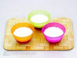 Молочное желе с клюквой: Залить слой молочного желе