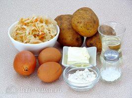 Картофельные зразы с квашеной капустой: Ингредиенты