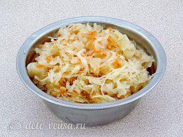 Картофельные зразы с квашеной капустой: Подготовить капусту