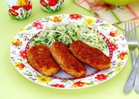 Рыбные котлеты с картошкой