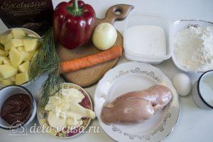 Нудли с картошкой и мясом: Ингредиенты