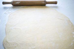 Нудли с картошкой и мясом: Очень тонко раскатать тесто