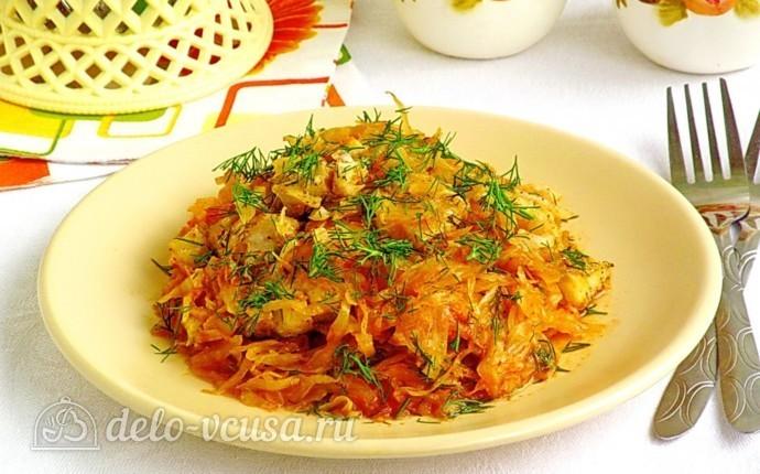 Рецепт рыба, запеченная с капустой