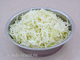 Рыба запеченная с капустой: Нарезать тонко капусту