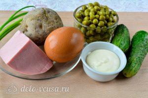 Салат Оливье со свежим огурцом: Ингредиенты