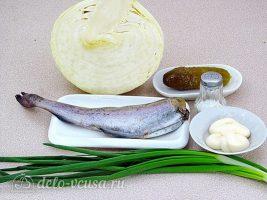 Салат с вареной рыбой и капустой: Ингредиенты