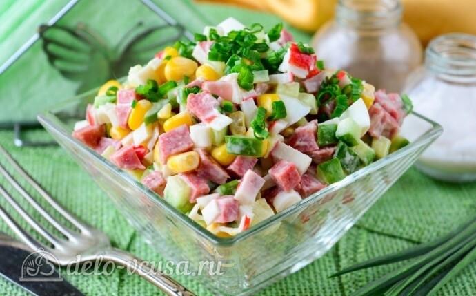 Салат с крабовой колбасой #4