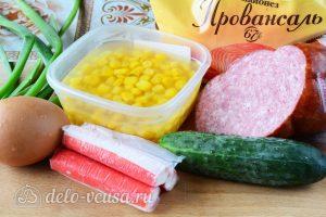 Крабовый салат с колбасой: Ингредиенты