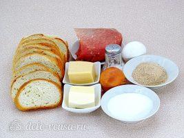 Горячие закусочные бутерброды с фаршем: Ингредиенты