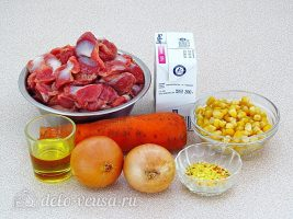 Куриные желудки в мультиварке: Ингредиенты