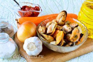 Мидии в томатном соусе: Ингредиенты