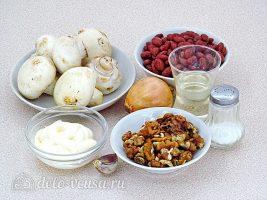 Салат из фасоли с грибами: Ингредиенты