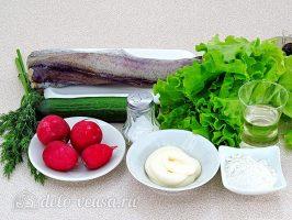 Салат из жареной рыбы: Ингредиенты