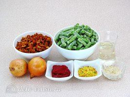 Стручковая фасоль с лисичками: Ингредиенты