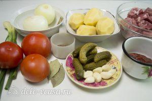 Азу из свинины: Ингредиенты