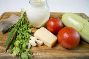 Кабачки с помидорами и сыром: Ингредиенты