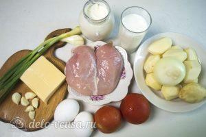 Картофель запеченный с курицей: Ингредиенты
