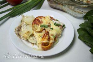 Картофель запеченный с курицей готов