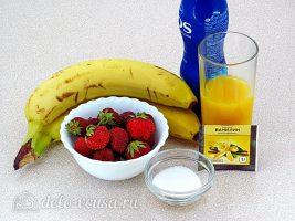 Клубнично-банановый смузи: Ингредиенты