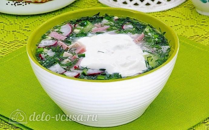 Окрошка на сыворотке: фото блюда приготовленного по данному рецепту