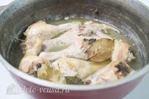 Рийет из курицы: Остужаем мясо
