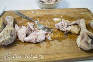 Рийет из курицы: Разбираем мясо