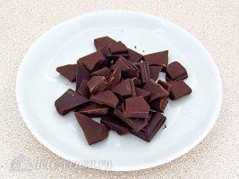 Шоколадно-молочный мусс: Разломать шоколад