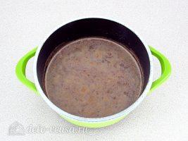 Шоколадно-молочный мусс: Растворить шоколад в горячем молоке