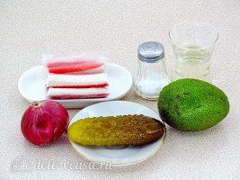 Крабовый салат с авокадо: Ингредиенты